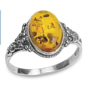 Amber sterling silver 925